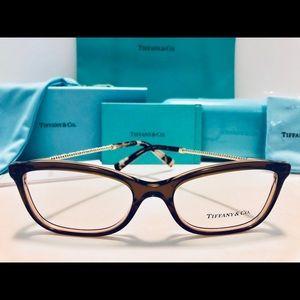 Tiffany & Co. Eyeglasses Transparent Brown 53mm
